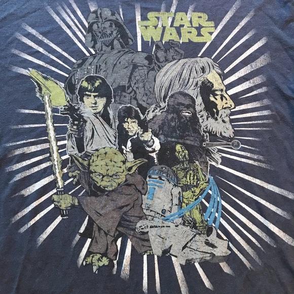Vintage Star Wars T Shirt Size L Yoda Vader Han
